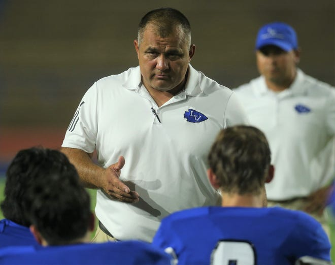 San Angelo Lake View head football coach Hector at San Angelo Stadium on Friday, Sept. 3, 2021.