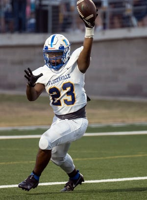 Pflugerville DE Matthew Tryon is among the defensive players who have shined during the first two games of the season. The Panthers will have a tough test when they play host to Glenn on Thursday.