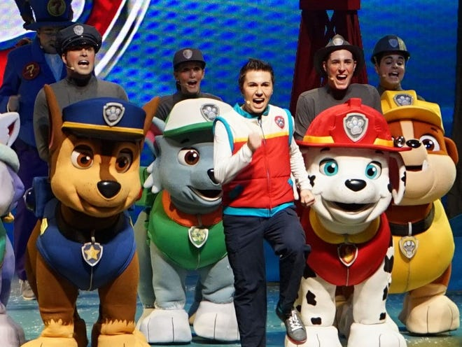 Paw Patrol Live! will take the stage at the Ocean Center on Tuesday and Wednesday.
