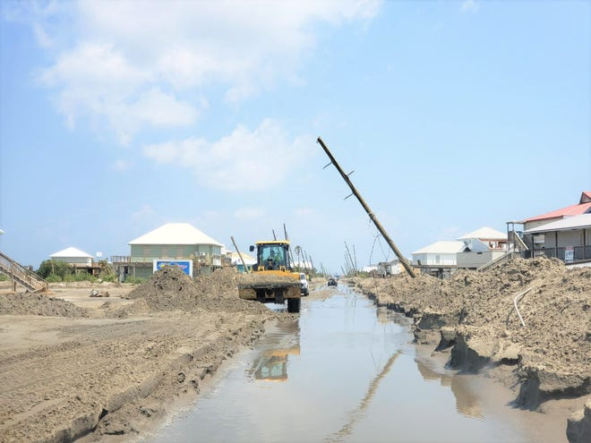 Here it is; Grand Isle beginning the efforts of rebuilding.
