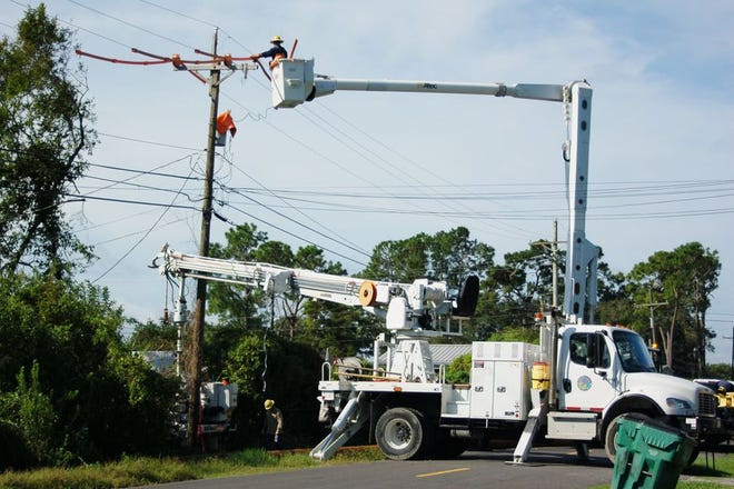 Utility crews from Plaquemine City Light & Water and other providers has helped restore operations in Iberville Parish following the landfall of Hurricane Ida on Aug. 29.