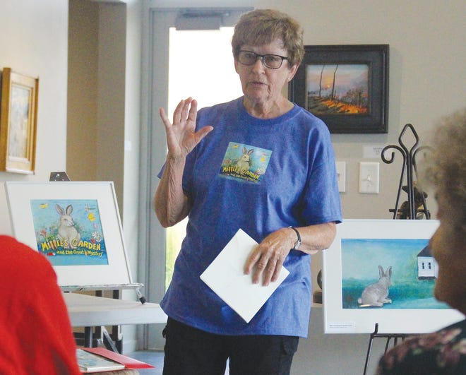 Artist, now illustrator, Kathleen Kuchar, is professor emerita of art from Fort Hays State University. She spoke at the Vernon Filley Art Museum on Friday in Pratt, along with co-book creator Joyce Frey.