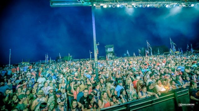 A fired up crowd is ready for live music in this 2019 photo from the annual Texas Music Festival and Chili Cookoff hosted by Larry Joe Taylor. This year's festival is scheduled for Sept. 13-18 at Taylor's Melody Mountain Ranch, 1290 Private Road 707, Stephenville.