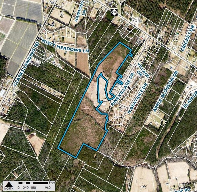 An applicant is looking to build more homes in the Rocky Point Township near N.C. Hwy. 210