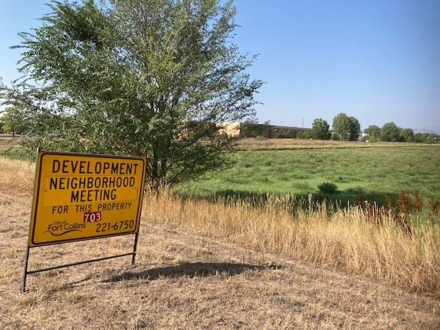 The city of Fort Collins will host a virtual neighborhood meeting to discuss plans for townhomes, condos and apartments between Front Range Village and English Ranch subdivision.
