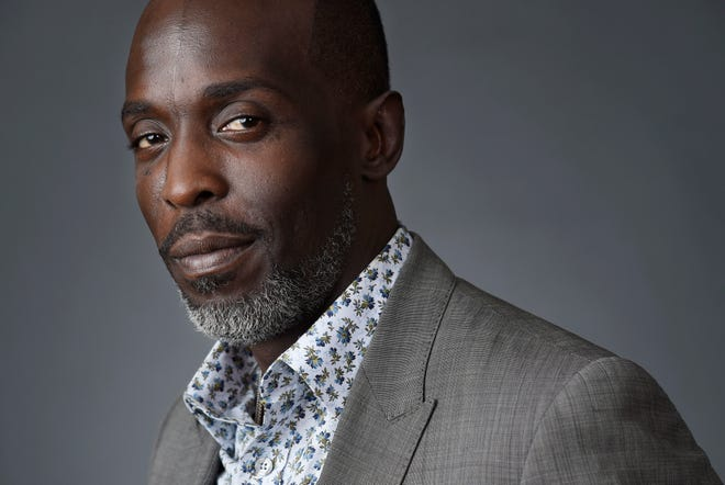 """In this Saturday, July 30, 2016, file photo, Michael Kenneth Williams, a cast member in the HBO series """"The Night Of,"""" poses for a portrait during the 2016 Television Critics Association Summer Press Tour at the Beverly Hilton in Beverly Hills, Calif. Williams, who played the beloved character Omar Little on """"The Wire,"""" has died. New York City police say Williams was found dead Monday, Sept. 6, 2021, at his apartment in Brooklyn. He was 54."""