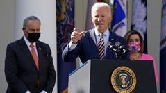 President Joe Biden wants Democratic leaders Chuck Schumer and Nancy Pelosi to push his agenda through Congress.