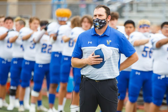 Coach Craten Phillips and the Lago Vista football team had to cancel their nondistrict game against Smithville on Friday after Lago Vista school district officials shut down the high school campus.