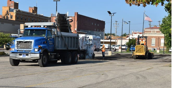 Mill and overlay project for the Civic Center Parking Lot