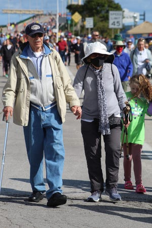 Thousands of people of all ages and abilities turned out to the annual Labor Day Bridge Walk across the Mackinac Bridge Monday morning. The walk started at 7 a.m. and the bridge was opened back up to vehicle traffic at noon.