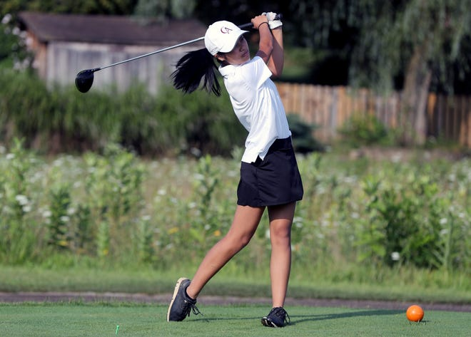 """Junior Grace Luo and Columbus Academy are pursuing their first MSL-Ohio Division title and first berth to the Division II state tournament. The Vikings are in their third season as a program. """"Our freshman year we never knew what to expect because we were all new to high school golf,"""" Luo said."""