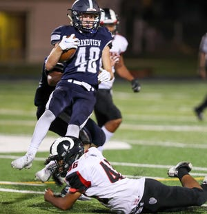 Senior Connor McCormick is one of numerous two-way players for Grandview Heights, contributing out of the backfield on offense and the secondary on defense. The Bobcats are dealing with injuries while coping with having a roster of 34 players.