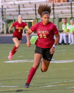 Senior forward Chloe Robertson had six goals through six games for North, which hopes to win its second Division I district championship in three seasons. Robertson scored 14 goals last fall.
