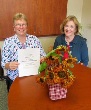 """Darcy Hepner, left, Hammond-Henry Hospital Foundation Director; and Jan Sellman, representing the Women's Health Committee at Hammond-Henry Hospital, invite area residents to the Thursday, Sept. 23, program of the Women's Health Series, sponsored by Hammond-Henry Hospital Foundation Community Benefits Committee. The program, """"Anxiety as We Age,"""" will be presented by Tracy Craig, OT Hammond-Henry Hospital Rehab Department."""