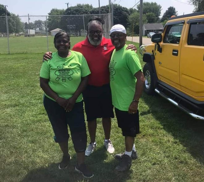 """Karla Wallace, Anthony Law and Keith """"Doc"""" Patterson"""