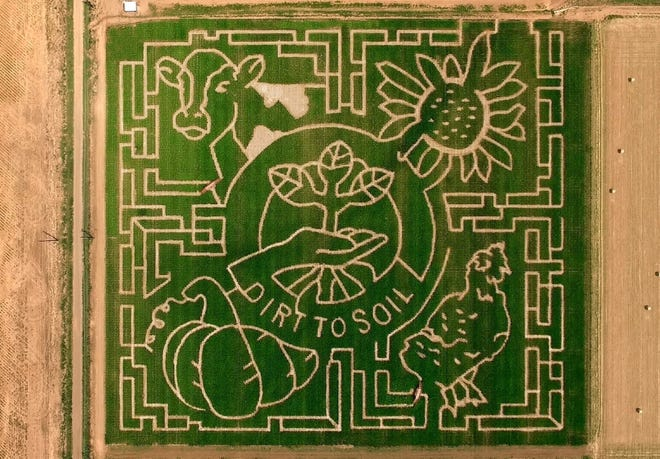 At'l Do Farms is back with its annual giant corn maze. This year's event kicks off Saturday and runs through Nov. 6, with the exception of Mondays, when the maze is closed.