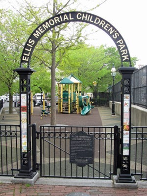 The Ellis Memorial Children's Park in the South End is a popular spot for children to have fun.
