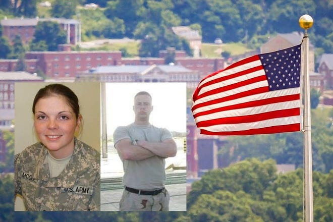 Amanda McCarty (left) and Jonathan McGee (right) are student veterans who cite 9/11 as a touchstone in their military and educational careers.