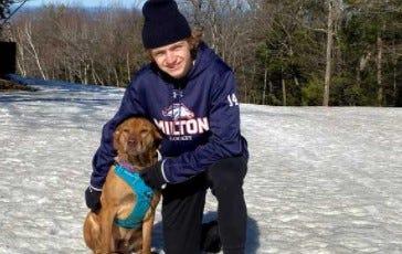 Milton Academy hockey player Jake Thibeault