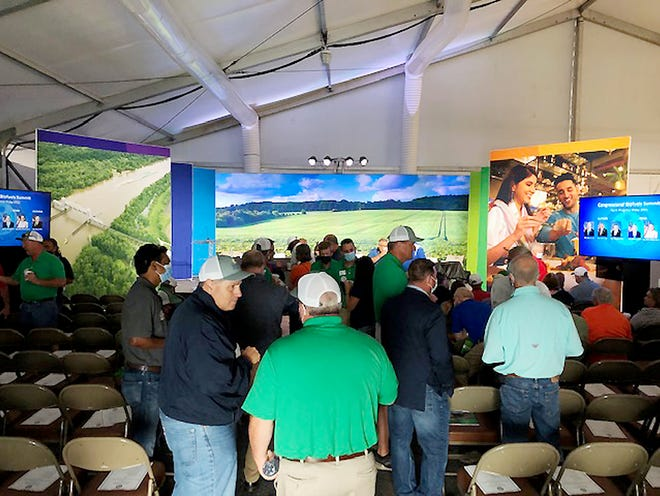 A biofuels forum was held during the recent Farm Progress Show in Decatur at the ADM tent.
