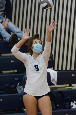 Lia Iacoangeli and the Petoskey volleyball team have been getting some good looks from opponents on the court.