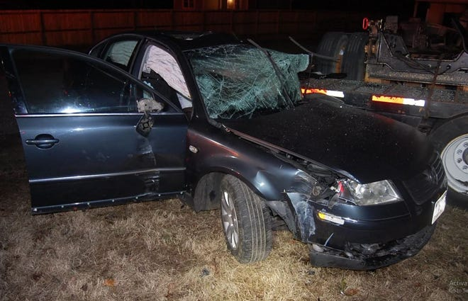 A car that was involved in the death of a Petersburg man on Route 1 in Dinwiddie. Dinwiddie saw the highest number of vehicle deaths in the Tri-Cities.
