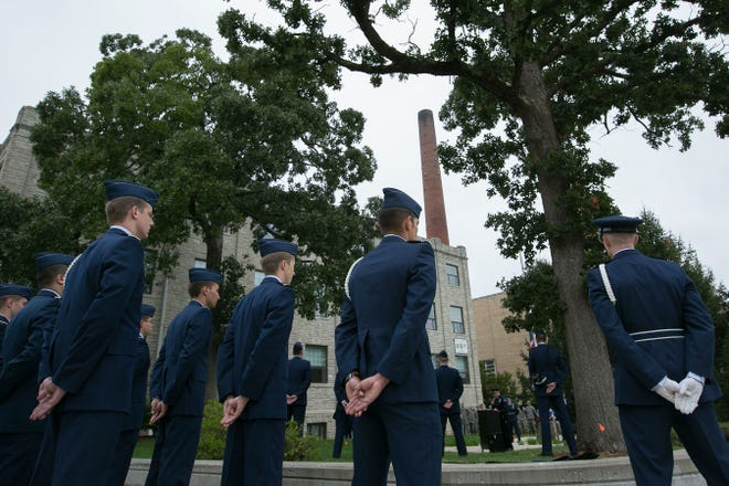 Missouri S&T ROTC members at a Sept. 11 event in 2014. Photo by Sam O'Keefe, Missouri S&T.
