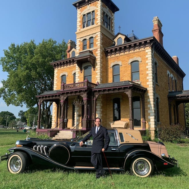 Joseph Tatner, the owner of the Lebold Mansion in Abilene, purchased a car to match the aesthetic of the mansion. The Zimmer was built in 1982.