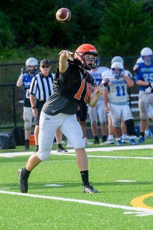 Jacob Briggs makes a pass.