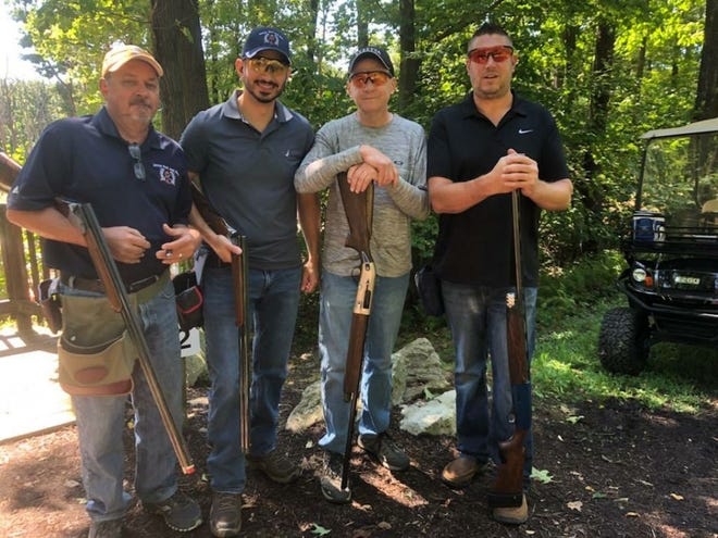 The annual Camp PARC sporting clays fundraiser event was held Sept. 2 at Seven Springs Mountain Resort. Winning team members are pictured, from left: Terry Straka, Mike Barbera, Rick Sager and Eli Sager. The team was sponsored by Tailgatez.