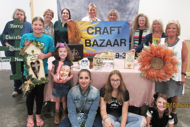 New Beginnings Outreach Center Church will host its annual Fall Craft Bazaar with a sub and pizza sale, and youth hosted concession stand from 9 a.m. to 3 p.m. Sept. 25. Some of the vendors and youth are from left, first row:  Sammi Harmon, Jenna Strayer, Bethany Woolley, Karyn Hamer, Jessa Strayer, Linda Mishler. Second row:  Candy Marker, Frances Singo, Breanna Harmon, Misty Roby, Sharon Shaulis, Jessica Strayer and Lisa Woolley. Subs and pizzas are from Kovals. Proceeds benefit Operation Christmas Child. Sale goes until items are sold. Pre-order by calling the church at 814-629-5001.  A variety of vendors for the bazaar include homemade crafts, wood crafts, baked goods, homemade wreaths, May Kay cosmetics, Paparazzi, decals, Relay For Life, tumblers, Grapevine trees and plants and much more. The church is at 7398 Somerset Pike, Boswell, one mile North of Jennerstown on the right.