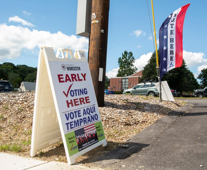 Early voting begins at the Unitarian Universalist Church on Holden Street Tuesday.