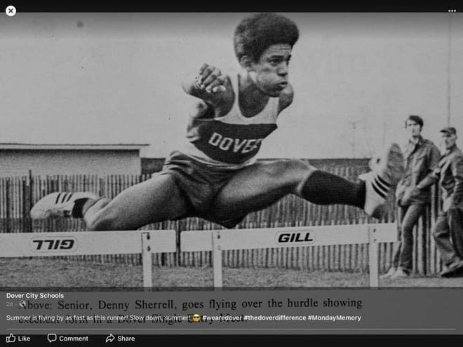 Dennis Sherrell was a track standout at Dover High.