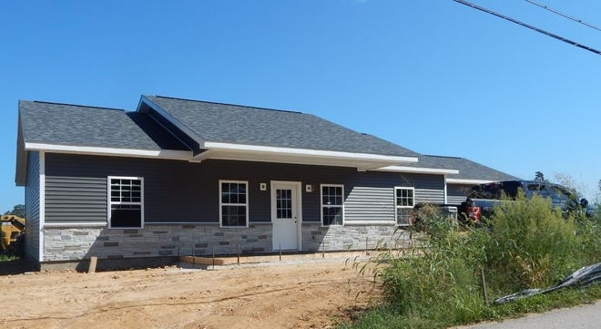 The first house in the French Lick Resort's Housing for Orange County workers is being completed on Abbeydell Pike in West Baden Springs. Partial funding for the project came from a $1 million matching grant from the Indiana Housing & Community Development Authority.