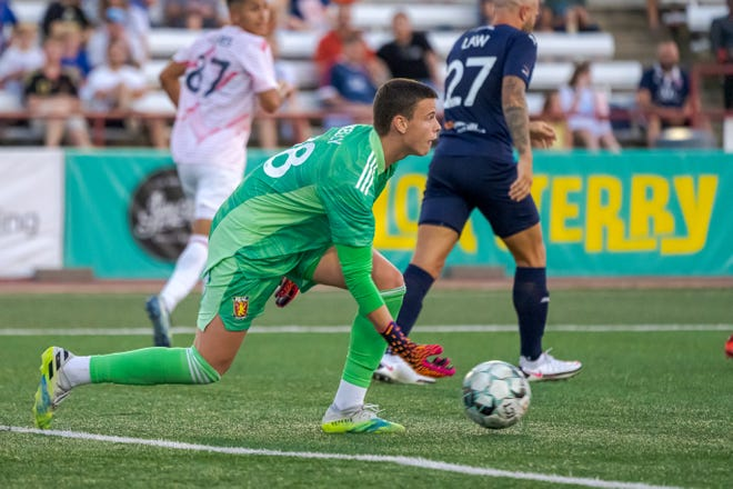 Blake Kelly, a 15-year-old from Holt, made his professional soccer debut with Real Monarchs in USL Championship on Aug. 28, 2021.