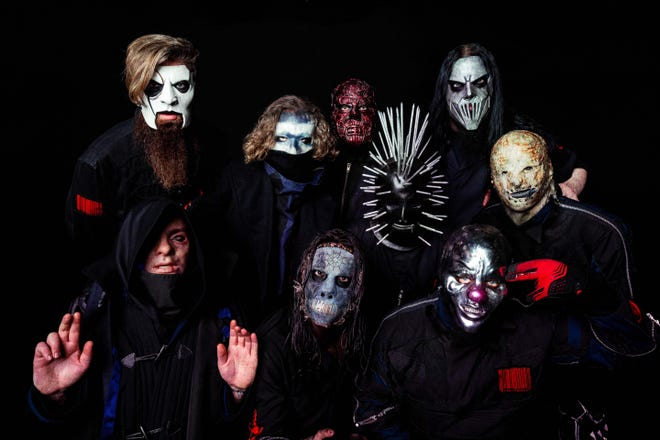 Slipknot, a heavy metal band from Des Moines known for wearing masks, is the Friday headline act at the 2021 INKcarceration Music and Tattoo Festival.