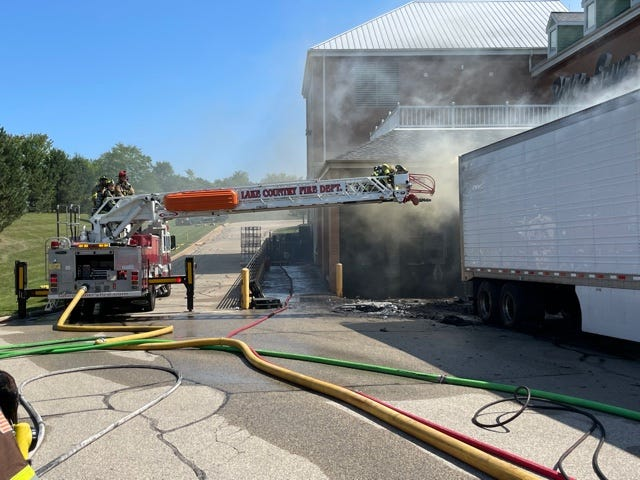 Crews responded to a fire at the Pick 'n Save in the city of Delafield on Sept. 5.