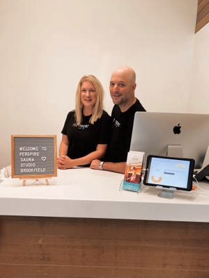 Jessica and Tom Kurz now own Perspire Sauna Studio in Brookfield, WI. The business is set to open on Sept. 13.