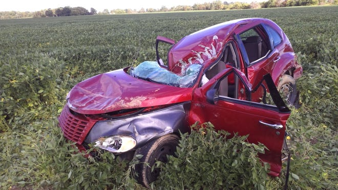 An Ohio teenager suffered fatal injuries in a one-vehicle crash Sunday along Randolph County Road 200-E south of County Road 100-N.