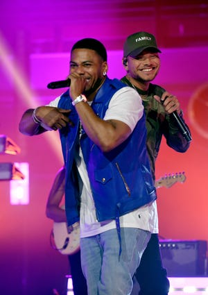 FRANKLIN, TENNESSEE - SEPTEMBER 01: Nelly and Kane Brown perform onstage for CMT Crossroads: Nelly & friends at The Factory At Franklin on September 01, 2021 in Franklin, Tennessee. (Photo by Jason Davis/Getty Images for CMT)