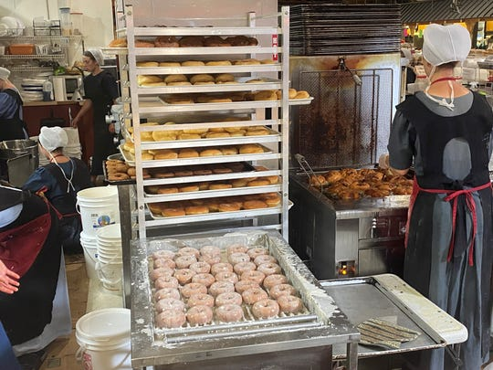 Becca's Bakery sells donuts in The Dutch County Farmers Market.