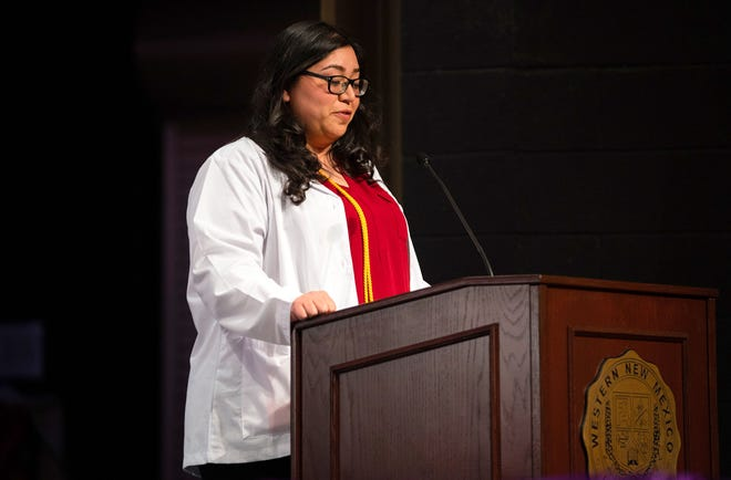 Registered nurse and Western New Mexico University alumna Amanda Mondello, pictured, will address the nursing students taking an oath of compassionate care on Friday.