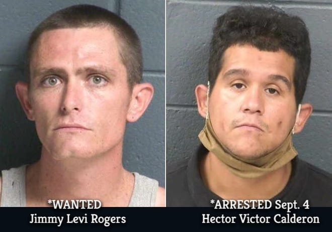 Jimmy Levi Rogers, 29, and 28-year-old Hector Victor Calderon are suspected in the Aug. 16 shooting death of Ezekiel Diaz on Lohman Avenue. Calderon was arrested on a warrant Sept. 4. Rogers has a warrant for his arrest and is charged with an open count of murder.