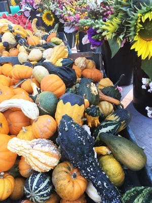 Fall colors will be on display at local farmers markets.