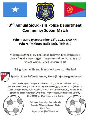 3rd Annual Sioux Falls Police Department Community Soccer Match.