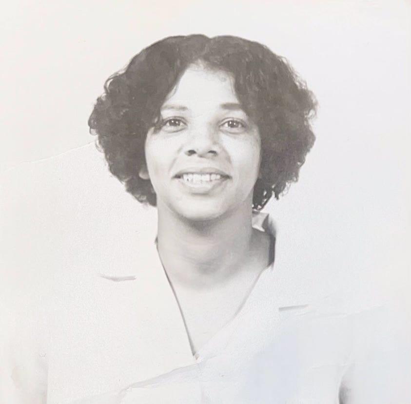 Olivette McClurkin after graduating from Friendship Junior College in South Carolina.