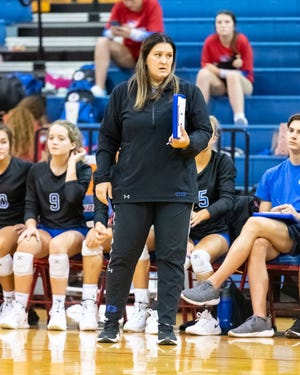 Georgetown head coach Jenny Richardson and the Eagles topped Weiss in four sets Sept. 7 in the final nondistrict match for both teams.
