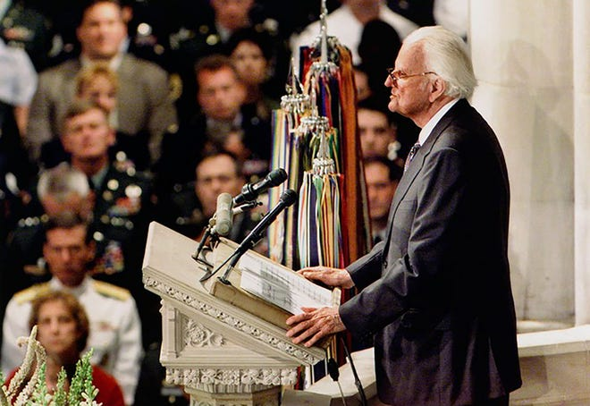 """""""We've seen so much that brings tears to our eyes and makes us all feel a sense of anger. But God can be trusted, even when life seems at its darkest."""" –Billy Graham at the National Cathedral in Washington, D.C., at the National Day of Prayer and Remembrance Service on Sept. 14, 2001."""