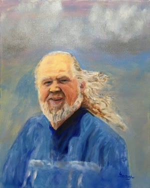 A self-portrait of Lance Straughn, a Wilson-born artist who will receive the Jim Miller Arts and Cultural Award from the Wilson Historical Society next week. Straughn's artwork often depicts animals, scenes and people of the American southwest, including Native American imagery.