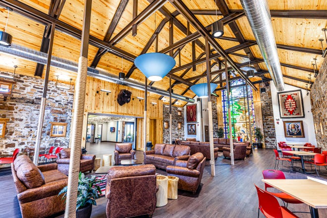 The new Fraser Welcome Center and Prairie Dome Cafe at Woolaroc is now open to the public.